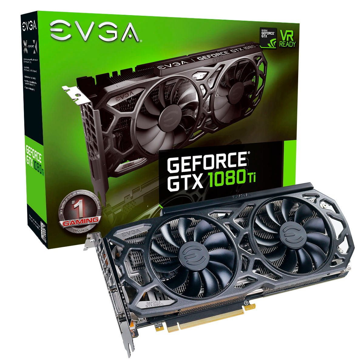 EVGA HL-007304 NVIDIA GeForce GTX 1080 Ti Black Edition 11GB iCX Cooler and LED Graphics Card by EVGA