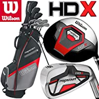 Wilson Mens Prostaff HDX Golf Set NEW FOR 2018 Steel Shafted Irons & Graphite Shafted Woods FREE Umbrella & Society Tee Pack worh £24.00