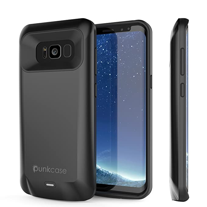 best loved 8c0f9 c5f85 Galaxy S8 Plus Battery Case, PunkJuice 5000mAH Fast Charging Power Bank  W/Screen Protector | Integrated USB Port | IntelSwitch | Slim, Secure and  ...
