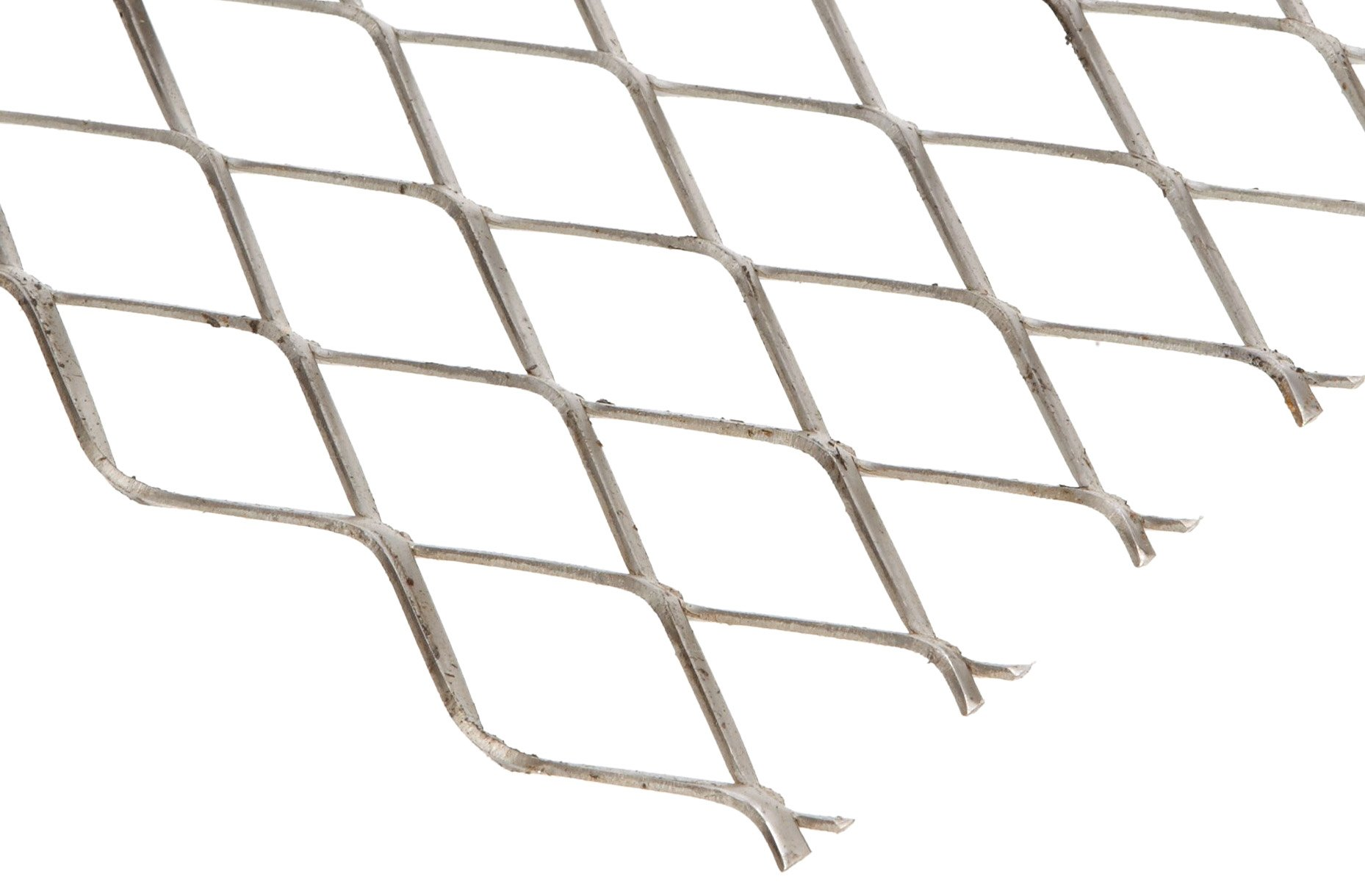 304 Stainless Steel Raised Expanded Sheet, Unpolished (Mill) Finish, 24'' Width, 24'' Length, 0.923'' SWD x 2.00'' LWD Opening, 16 Gauge