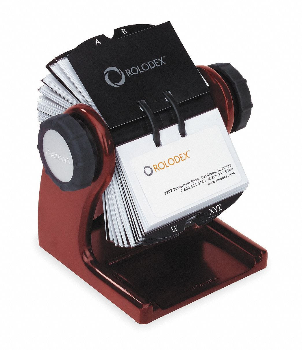 Wood 400 Ct ROLODEX Rotary Card File