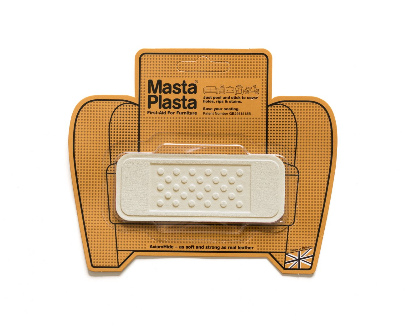 Ivory MastaPlasta Self-Adhesive Leather Repair Patches. Choose size/design. First-aid for sofas, car seats, handbags, jackets etc (IVORY SMALL CIRCLE 5cmx5cm) MastaPlasta Ltd MPSCIRCLEW