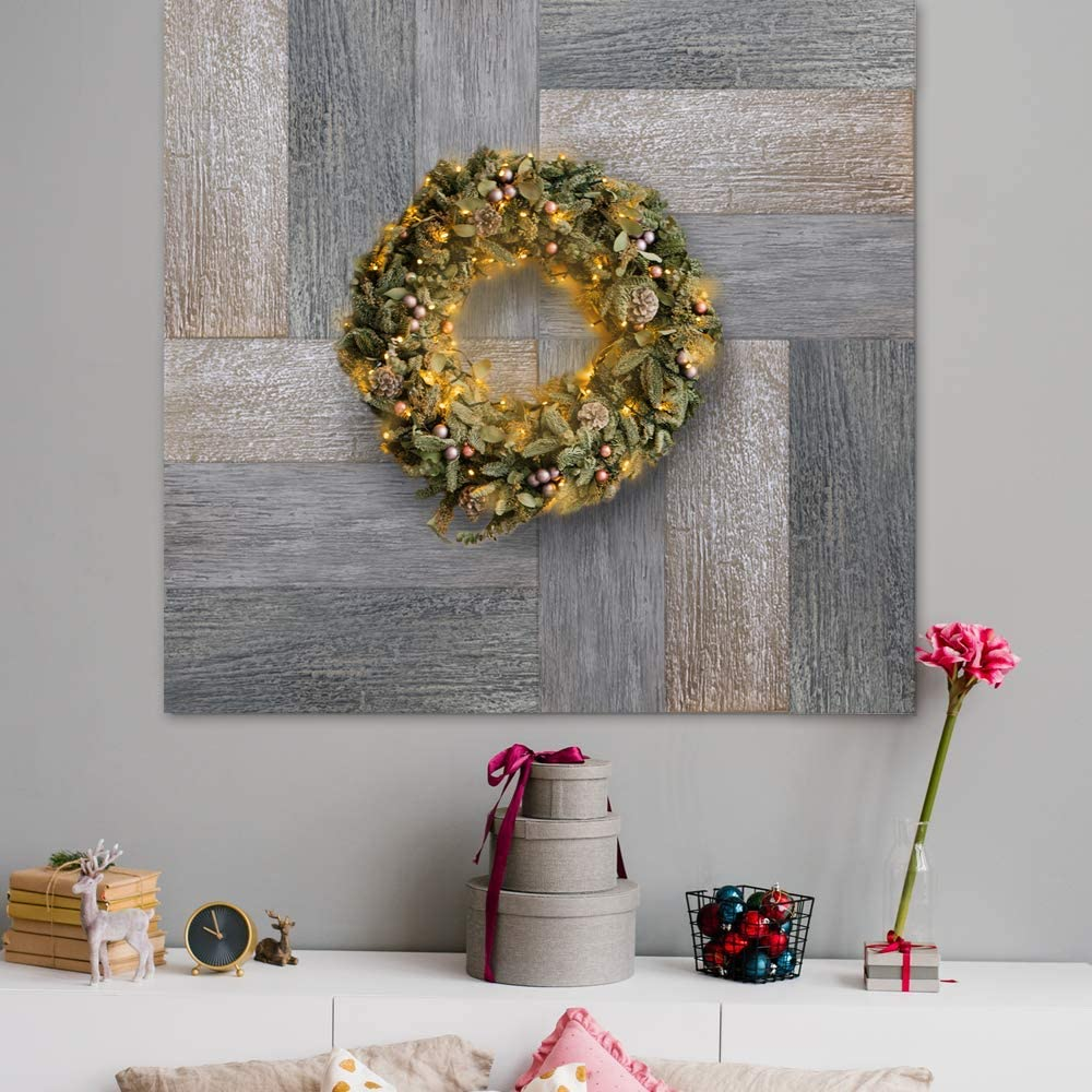 Wall Puzzle - Peel-and-Stick Flexible Wood Panels for Wall Decor, Pillars, Kitchen Counters, DIY Projects (4.6 sqft) (Mixed Grey)