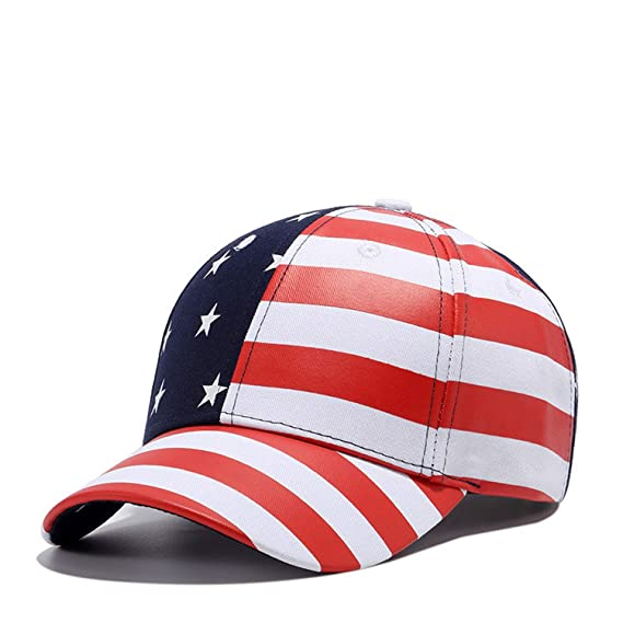 Moktasp Wuke New USA Baseball Cap America Flag Hat Bone Gorras Beisbol Casual Strapback for Men Women Caps Black at Amazon Mens Clothing store: