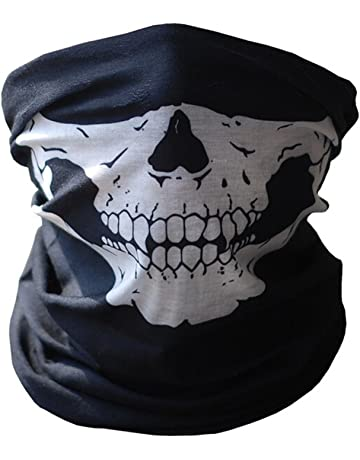286b400b4 Skull Tubular Protective Dust Mask Bandana Motorcycle Polyester Scarf Face  Neck Warmer for Snowboard Skiing Motorcycle