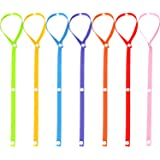 Gejoy 7 Pieces Toys Straps Toy Anti-Drop Belt Snap Fastener Adjustable Toy Holder, 7 Colors