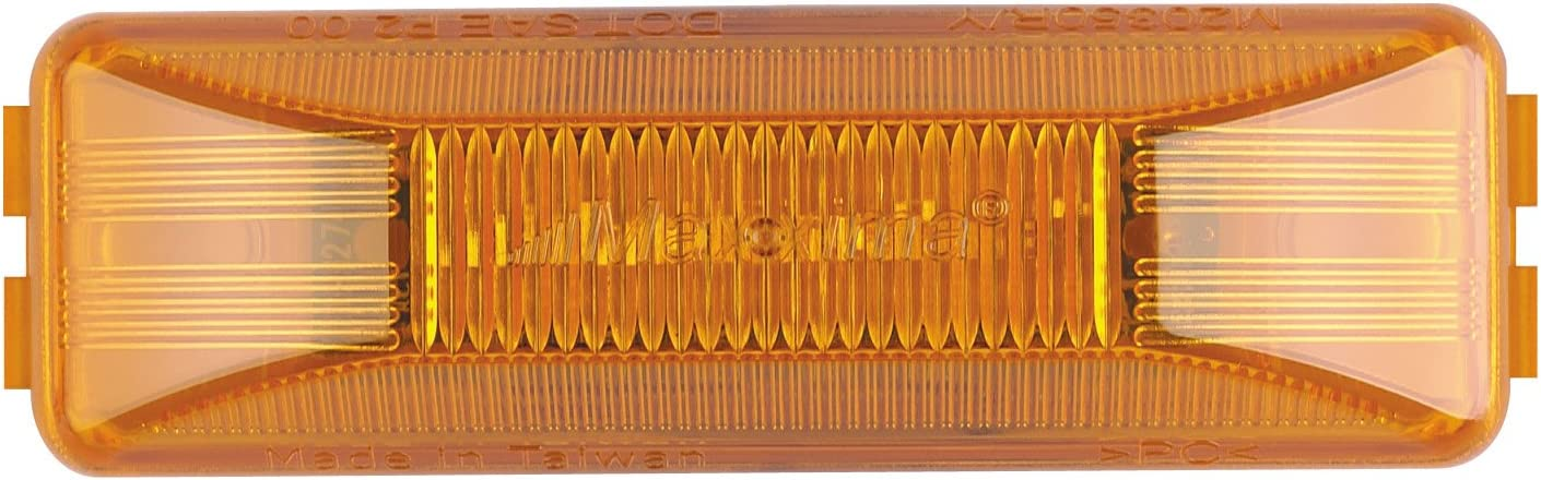 Maxxima M20350YCL 12 LED Amber 4 Rectangular Clearance Marker Light