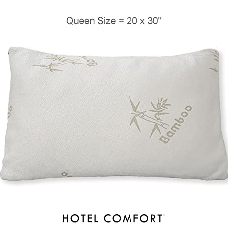 Amazon Hotel Comfort Premium Bamboo Memory Foam Queen Size Adorable Hotel Comfort Bamboo Covered Memory Foam Pillow