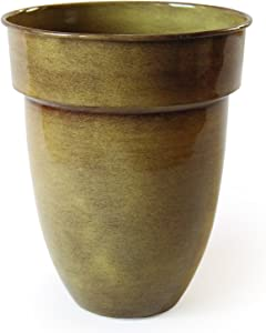 Robert Allen Home & Garden MPT01959 Ironstone Bella Classic Metal Planter Flower Pot, 13 inch Venti, Summer Wheat