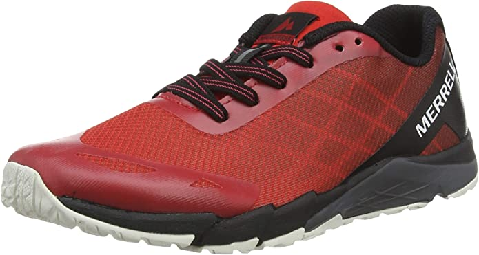Merrell Junior Bare Access Trail Running Shoes Trainers Sneakers Blue