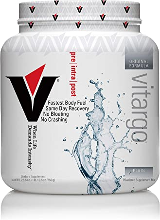 Vitargo Carbohydrate Powder | Feed Muscle Glycogen 2X Faster | 1 LB Unflavored Pre Workout & Post Workout | Carb Supplement for Recovery, Endurance, Gain Muscle Mass