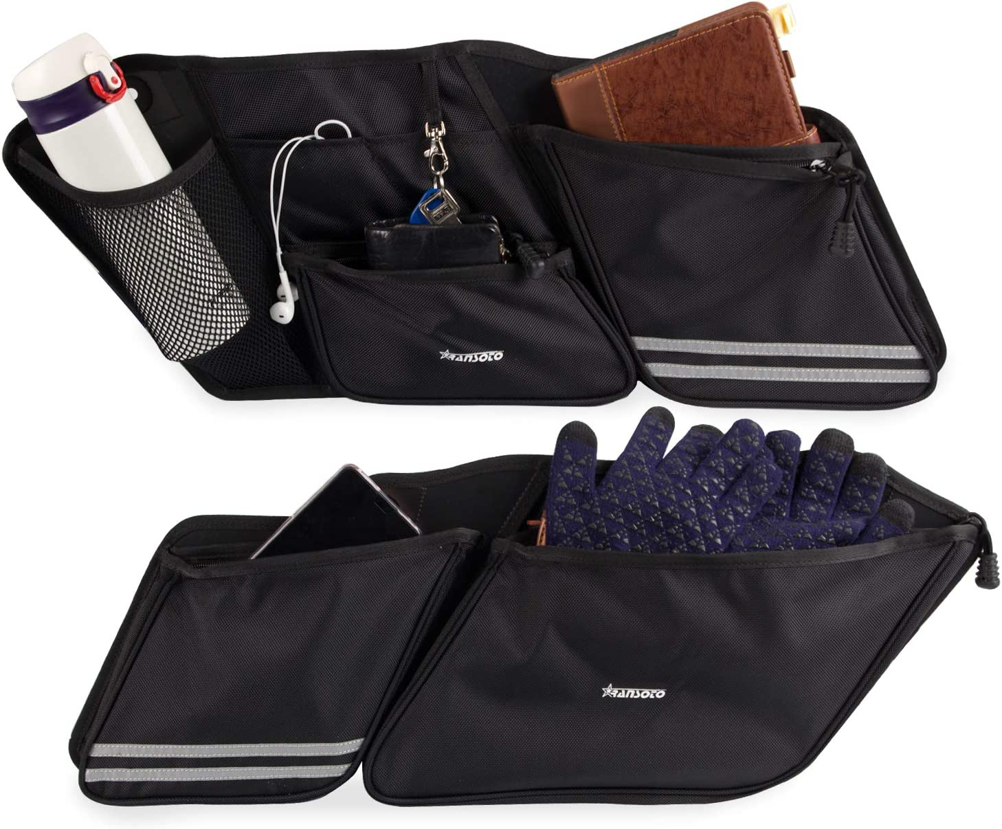 1 Pair Street Saddlebag Organizers Side Bag Compatible with 2014-2020 Street Glide Road King Road Glide Electra Glide
