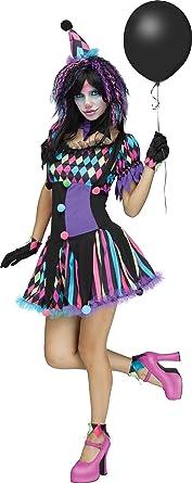 Fun World Womenu0027s Twisted Circus Clown Costume Multi Medium/Large  sc 1 st  Amazon.com & Amazon.com: Fun World Womenu0027s Twisted Circus Clown Costume Multi ...