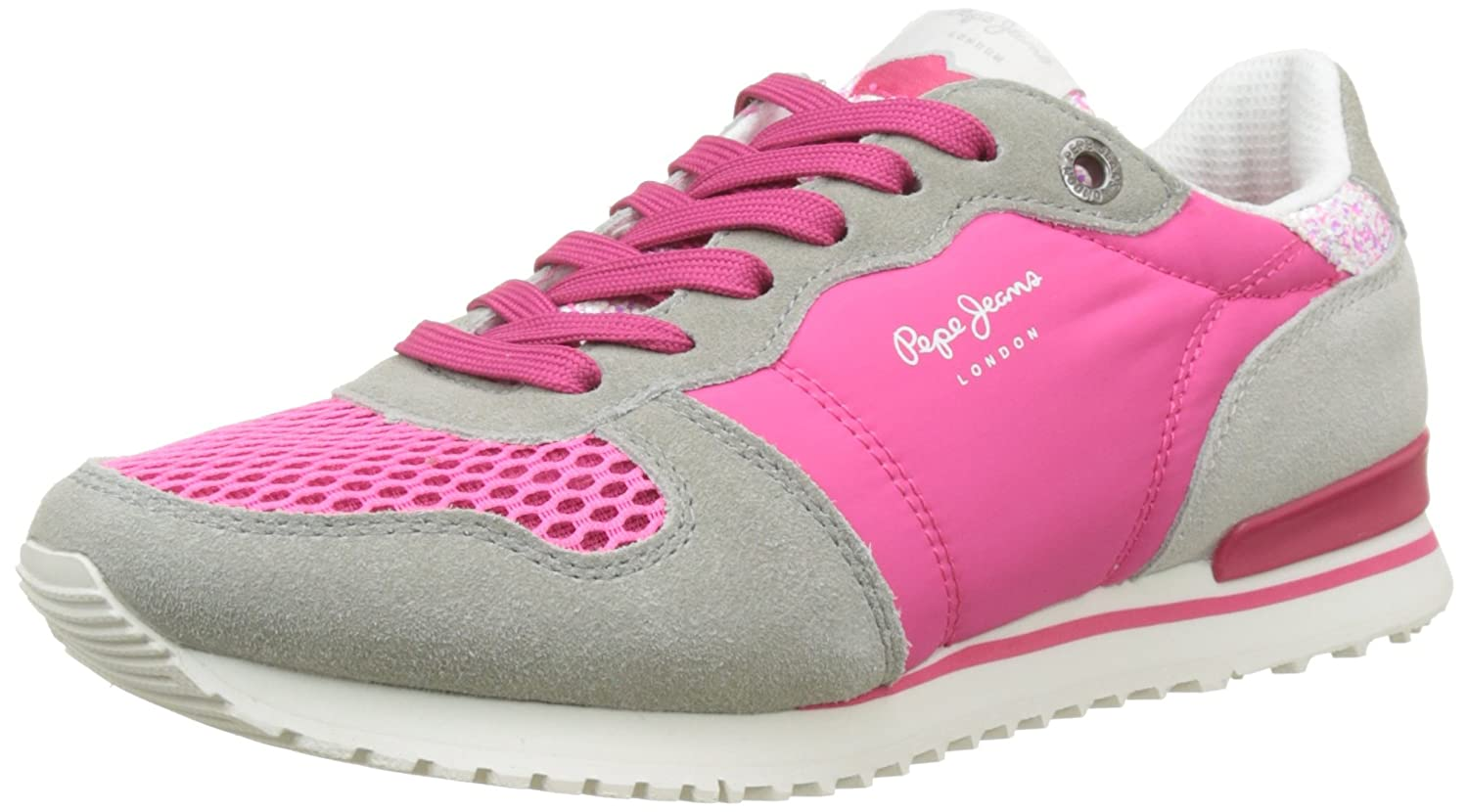 Pepe Jeans London Gable Tongue, Sneakers Basses Femme, (Disco Pink), 40 EU