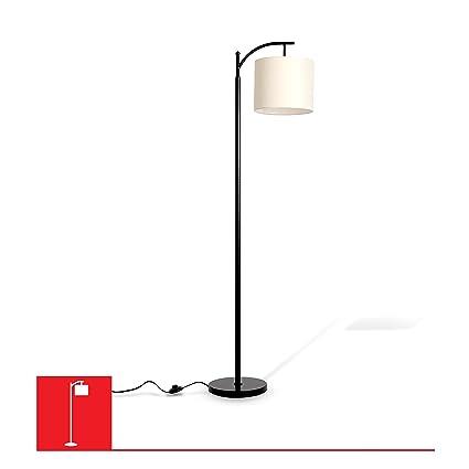 Tilden hanging floor lamp with rectangular base white lampshade tilden hanging floor lamp with rectangular base white lampshade black e26 base aloadofball Gallery