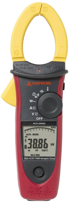Beha-Amprobe ACDC-54NAV Stromzange, Hand-Multimeter digital CAT III 1000 V, CAT IV 600V Anzeige (Cou