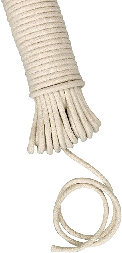 Koch Clothesline Cotton Clothesline Rope line 50 ft 3//18 inch Diameter Braided Cotton Blend Clothesline Clothesline Rope