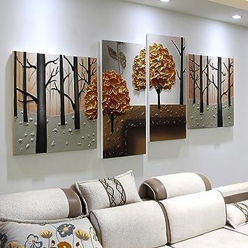 Amazon.de: Wandbilder Wohnzimmer Sofa Hintergrund Wandmalereien ...
