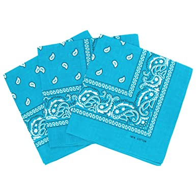 e2dca3b0b94 Lot de 3 bandanas paisley - Foulard coton motif cachemire vendu par 3   Amazon.fr  High-tech