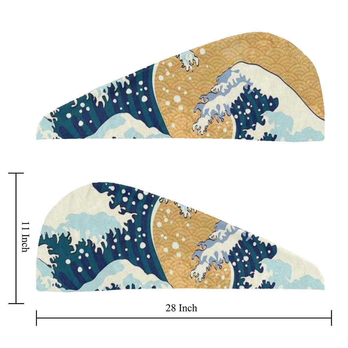 Tormenta de mar en Japón Dibujo tradicional Foamy Big Waves ...