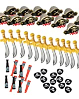 Pirate Party Set -12 Pirate Hats,Patches ,Swords,Telescopes - Funny Party Hats®