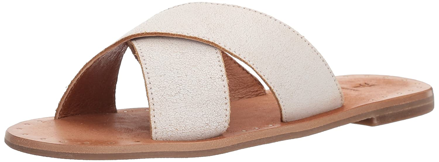 FRYE Women's Ally Criss Cross Slide Sandal B074QSZDKC 7 B(M) US|White