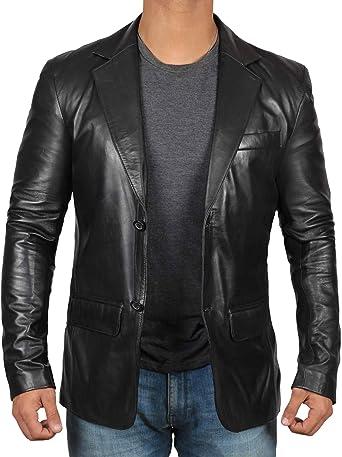 Brown Leather Jacket Men Black Genuine Leather Coats for Men