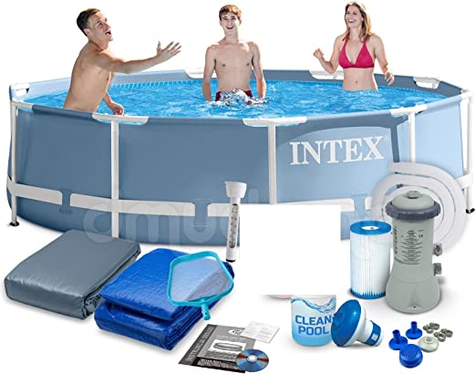Intex 28712 366 x 76 cm 9 in1 6503l Steel Pro Frame Pool Pool ...