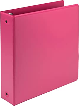Samsill Fashion Color Durable 3 Ring View Binders Customizab 2 Inch Round Ring