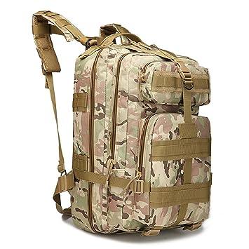 tentock al aire libre táctico Mochila Militar Caza Gear 3P Asalto MOLLE mochila resistente al agua 40L senderismo Camping senderismo de 3 unidades, ...