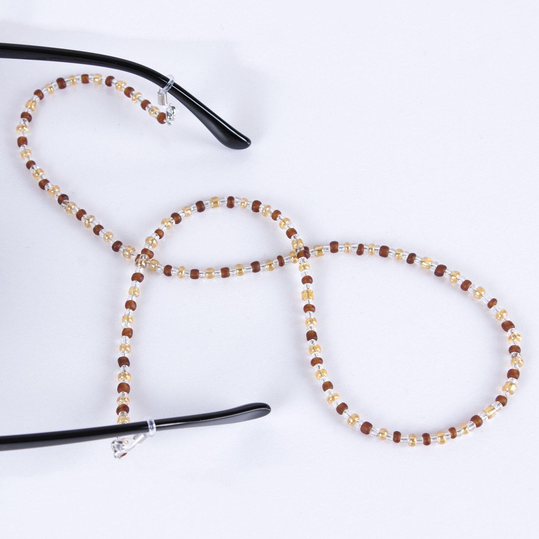 Soleebee 4 Pièces Corde Chaîne Attache pour Lunettes Porte-Lunettes avec  Perles en Cristal Artificielles 179f311853ed