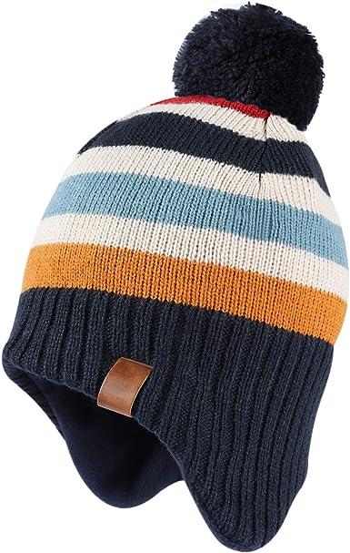 Tacobear Juego de 3 piezas Gorro y Bufanda de Invierno para Ni/ñas Ni/ños Sombreros de Pompon Bufanda de Punto para Ni/ñas Ni/ños Deportes de Interior y Exterior