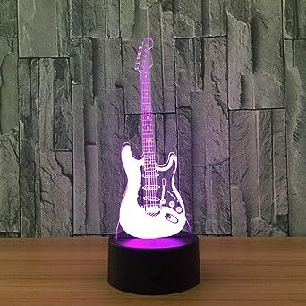 Luces De Modelo De Guitarra Musical, Luces Led De Ilusión De 7 ...