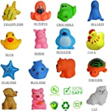 TechHark Colourful Lovely Attractive Push Chu Chu Bath Toys for Babies -Set of 15 Pieces