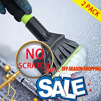Stainless Steel Snow Shovel for Window with Wiper and Deluxe Microfiber Car Wash Mitt akface Portable Ice Scraper for Car Windshield
