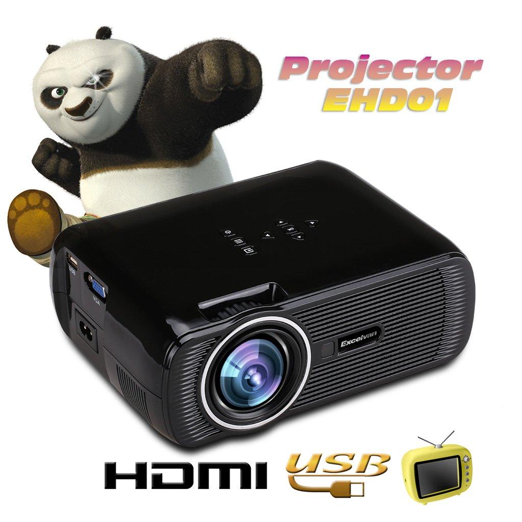 Excelvan EHD01 - Mini Proyector LED Portatil 1080P (1500 Lumenes ...