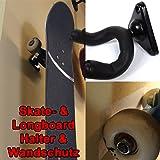 Sfq24 support de fixation mural pour skateboard et longboard 360 grad. avec protection murale et rotatif pour ! facile à installer