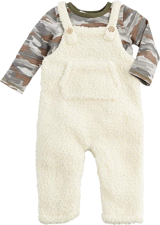 Mud Pie Baby-Boys Safari Monkey Face Overalls