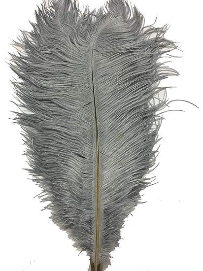 20-25cm Sowder 50pcs Natural 8-10inch Black Ostrich Feathers Home Wedding Decoration