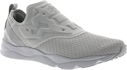 Reebok Furylite Slip on WW Chaussures Mode Sneakers Homme Gris Ortholite