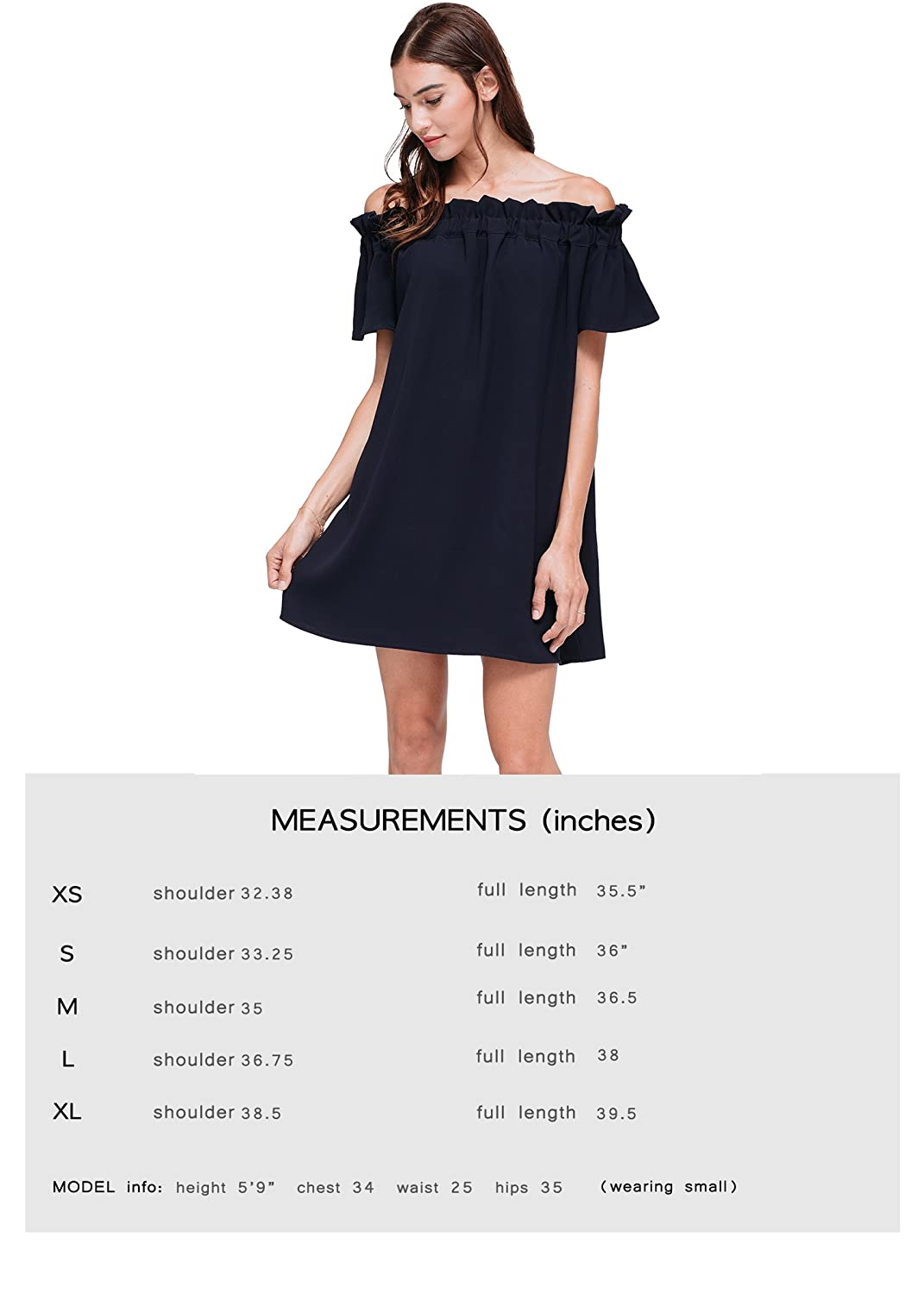 a7bea4e03a Pleione Off Shoulder Pleated Mini Shift Short Sleeve Summer Dress at Amazon  Women's Clothing store: