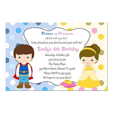 Amazon 30 Invitations Prince Princess Girl Boy Birthday Party