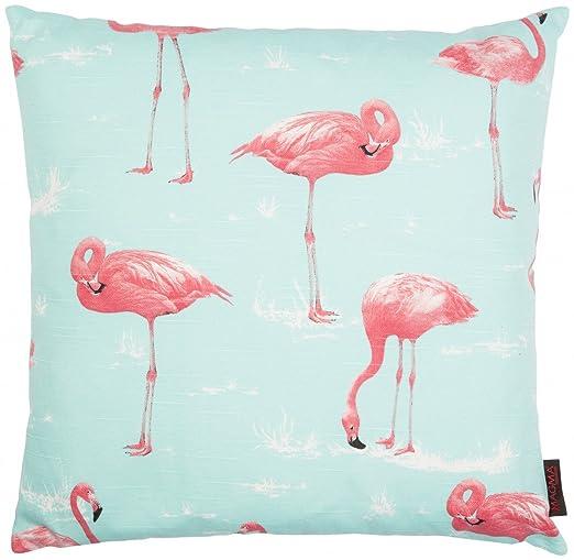Almohada Funda de cojín 50 x 50 cm verde menta rosa Flamingo ...