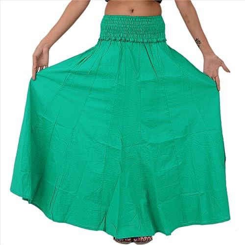 SNS Pure algodón, manga larga Maxi falda