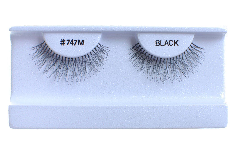 30 Pairs False Eyelashes Fake Eyelashes 100% Human Hair Black #747M