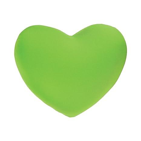 Cojín Corazón - microbilles - verde: Amazon.es: Hogar