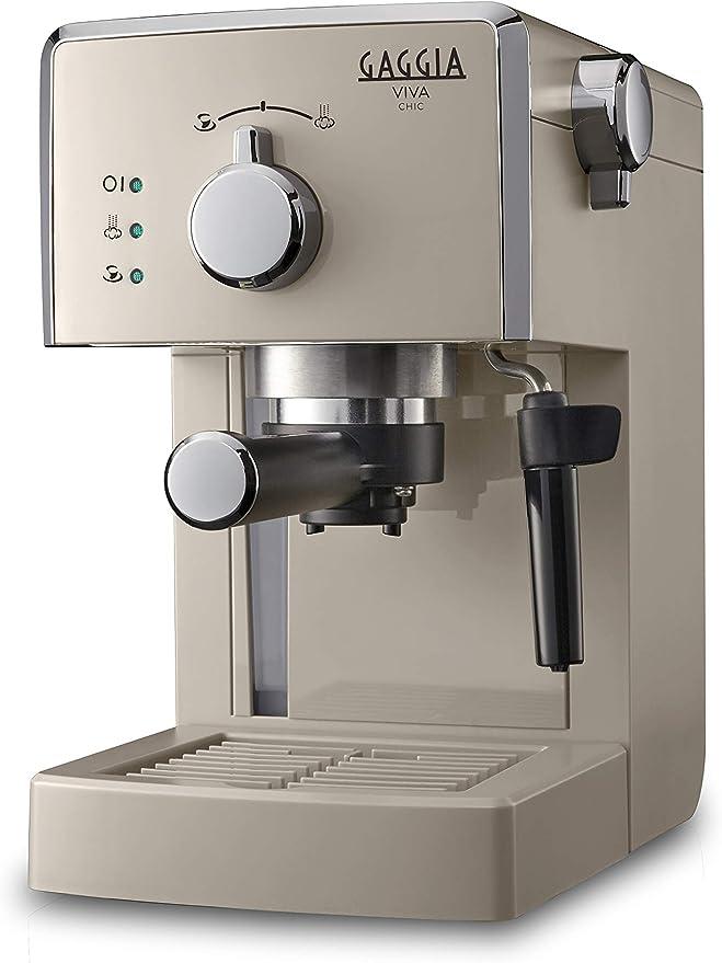 Gaggia Viva Chic Cappuccino - Máquina de café expreso manual para molinado y monodosis, RI8433/14: Amazon.es: Hogar