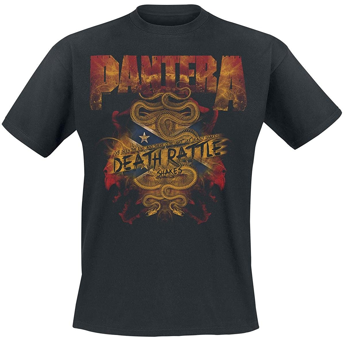 Pantera - Death Rattle - Camiseta Oficial Hombre k5zikV