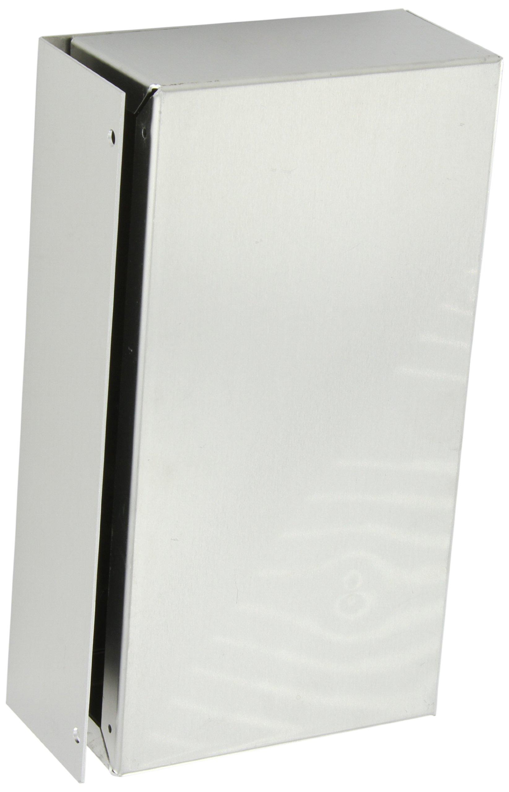 BUD Industries CU-592-A Aluminum Converter Box, 9-1/2'' Width x 2-1/2 Height x 5'' Depth, Natural Finish