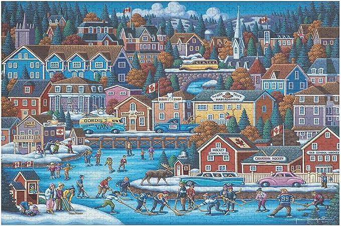 Canadian Hockey Jigsaw Puzzle